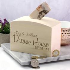 Personalised Dream House Fund Money Box