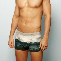 Men's ocean boxer briefs