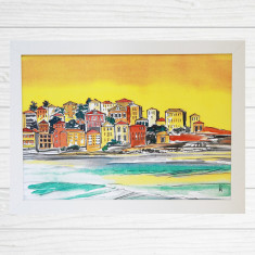 Sunset over Bondi Ben Buckler framed art print