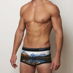 Men's trunks in lake design