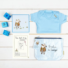Pastel Blue New Baby Boy Gift Set