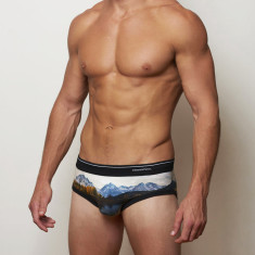 Men's briefs in lake design