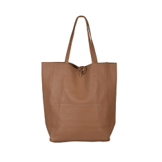 Monica leather shopper in tan