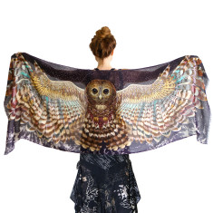 Night owl wings scarf