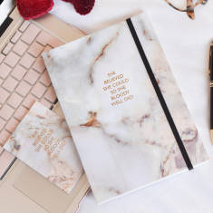 She Believed She Could Marble Notebook And Card Set