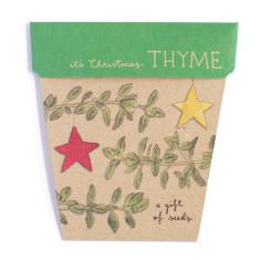 Christmas thyme gift of seeds