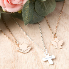 Personalised Christening or Communion Chain Necklace