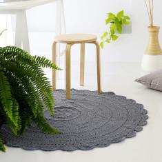 Grey crochet rug