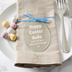 Personalised Glass Easter Decoration