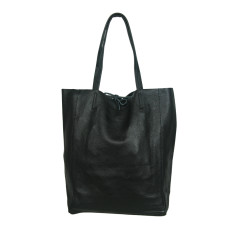 Monica genuine Italian leather shopper