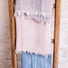 Personalised a warm hug for you linen scarf