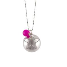 Silver globe star pendant