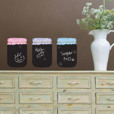 Chalkboard jam jars wall stickers