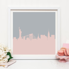 New York Skyline Graphic Print