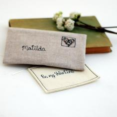 Personalised love note in linen envelope