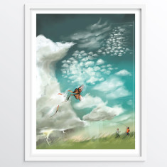 All of The Clouds - Fun Educational Wall Art Poster