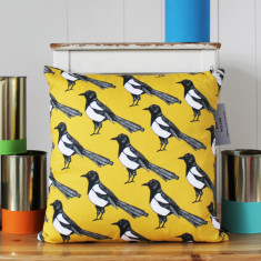 Mischievous Magpie Cushion Cover