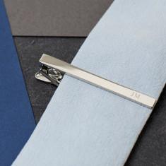 Initial Personalised Tie Clip