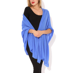 Moye cashmere stole in royal azure