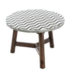 Mosaic Coffee Table Timber – Chevron (70cmD)
