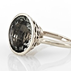Amethyst & silver ring