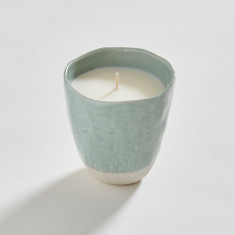 Japanese Stoneware Candle (mint)