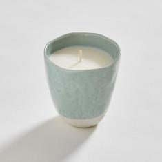 Japanese Stoneware Candle (mint)