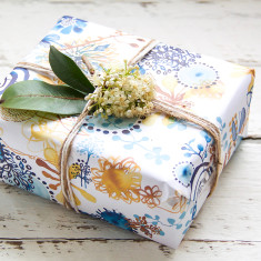 Spring Jasmin wrapping paper pack (10 sheets)