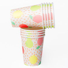 Fruit themed paper cups (2 packs of 10)