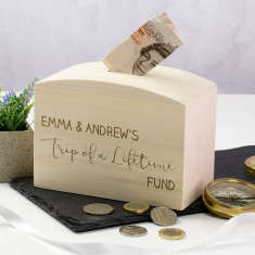 Personalised Trip Of A Lifetime Money Box