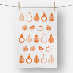 Pears Tea towel Orange