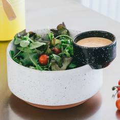 DOIY eclipse salad & sauce bowl set