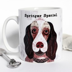 Springer Spaniel dog personalised mug