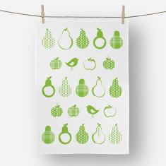 Pears Tea towel green