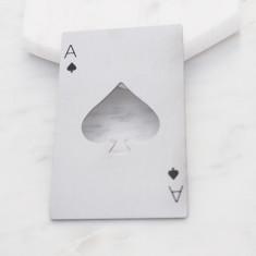 Ace of Spades wallet sized stainless steel bottle opener