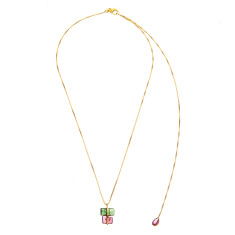 Tourmaline parcel necklace