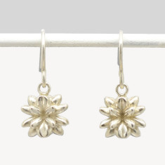Short Pollen Drop Earrings in Sterling Silver