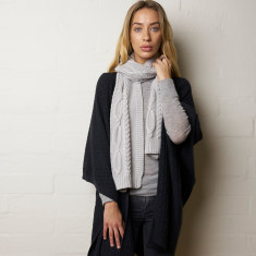 Nordic cable Cotton Scarf