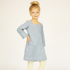 Girls' chambray madeleine dress