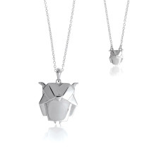 Owl origami necklace