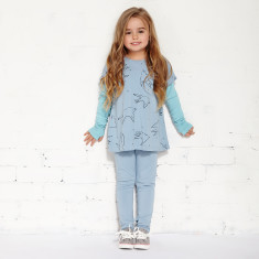 Duck duck goose tights in chambray