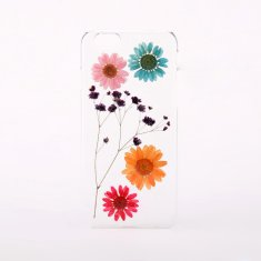 Pressed daisy flower phone case for iPhone or Samsung