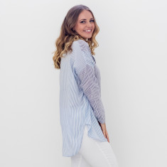 Stripe longline shirt