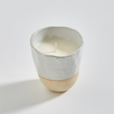 Japanese Stoneware Candle (cream)