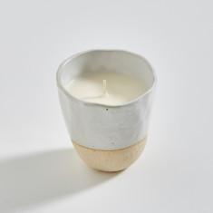 Japanese Stoneware Candle (cream)