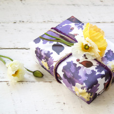 Violet wrapping paper pack (10 sheets)