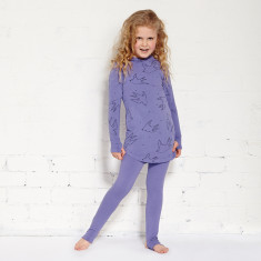 Duck duck goose tights in light grape