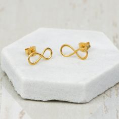 Gold Infinite Love Earrings