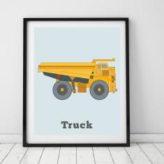 Mining truck print