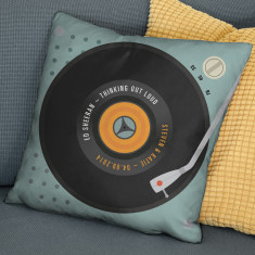 Personalised Our Song Faux Suede Cushion Cover
